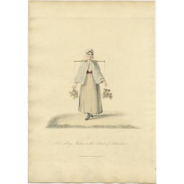 Girl selling Matches - Ackermann (1817)
