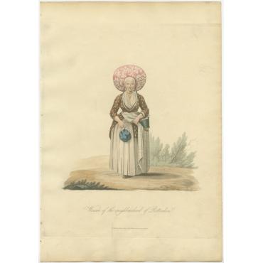 Woman of the neighbourhood of Rotterdam - Ackermann (1817)