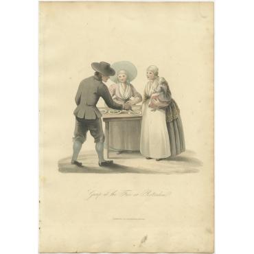 Group at the Fair at Rotterdam - Ackermann (1817)