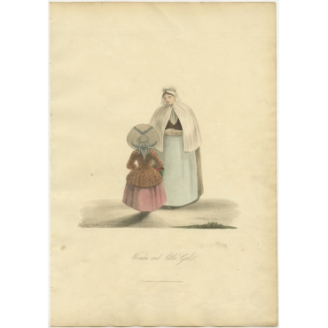 Woman and little Girl - Ackermann (1817)