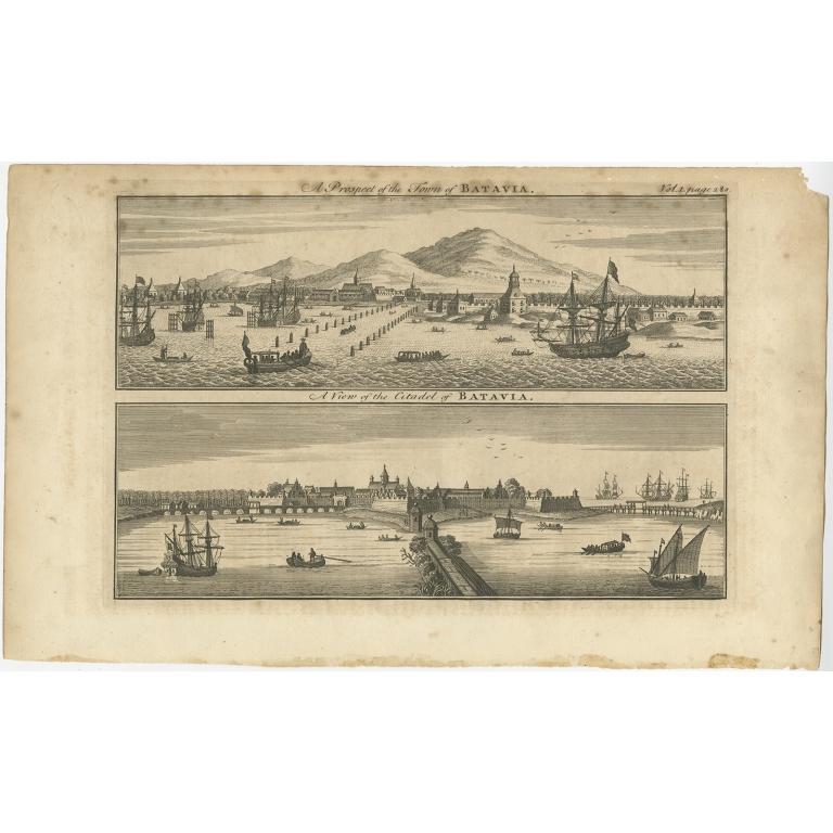 A Prospect of the Town of Batavia - Bowen (1744)