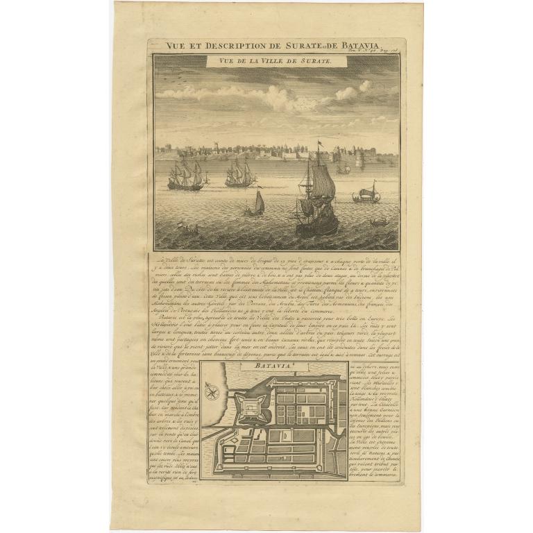 Vue et Description de Surate et de Batavia - Chatelain (1719)
