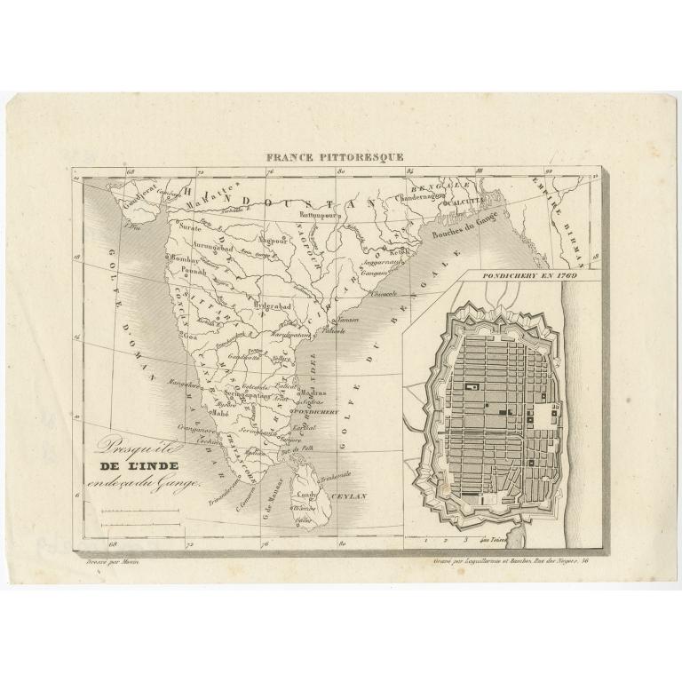 Presqu'ile de l'Inde en de ca du Gange - Monin (c.1835)