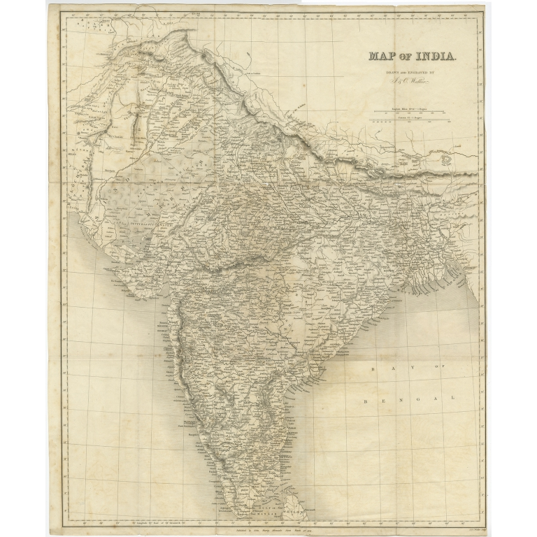 Map of India - Walker (1841)