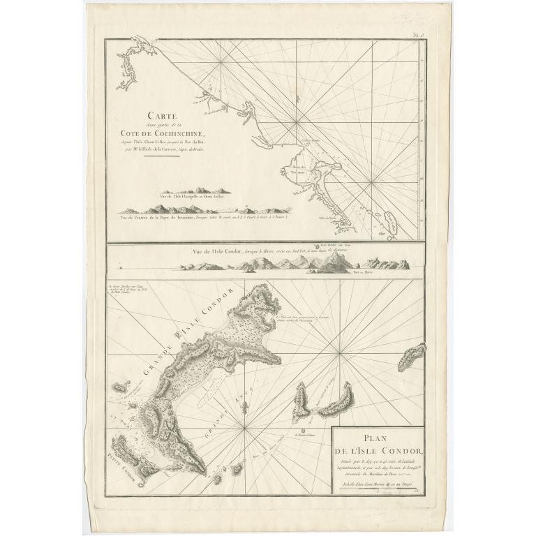 Plan de l'Isle de Condor (..) - Mannevillette (1780)