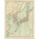 Japanese Empire - Political Map - Bartholomew (1922)