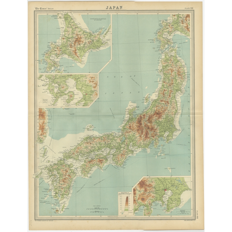 Japan - Environs of Tokio & Nagasaki - Bartholomew (1922)