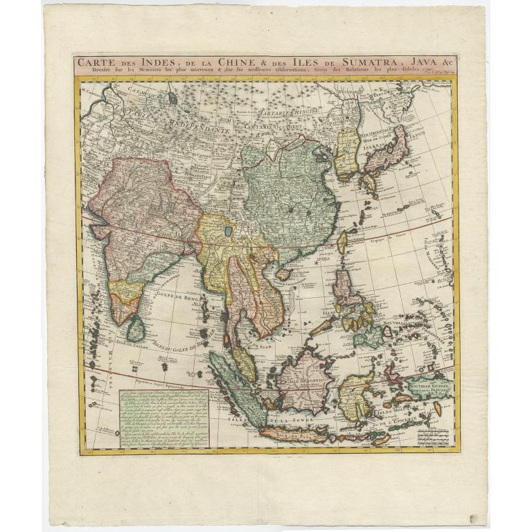 Carte des Indes (..) - Chatelain (1719)
