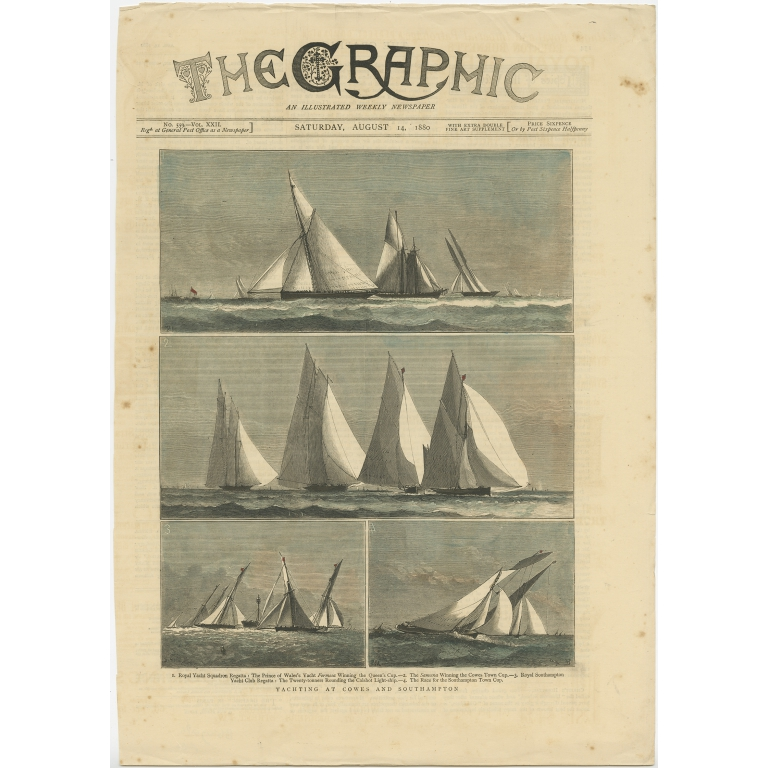Yachting at Cowes and Southampton - The Graphic (1880)