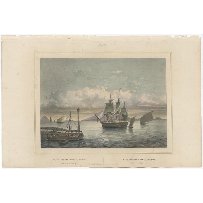 Gezigt van de Straat Sunda - Lauters (1844)