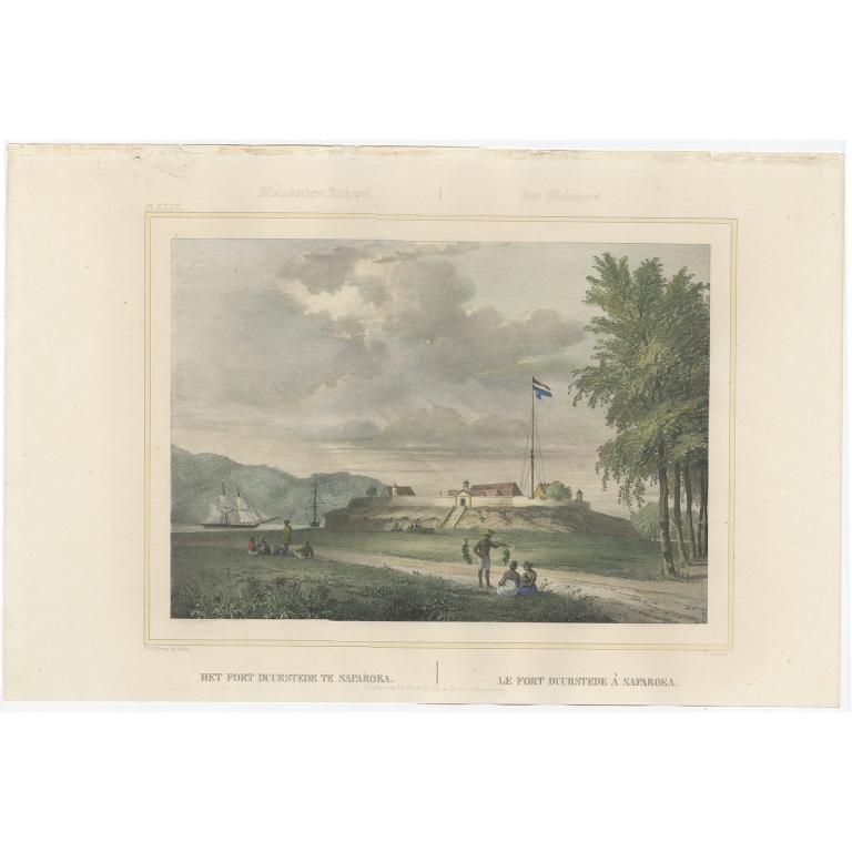 Het Fort Duurstede te Saparoea - Lauters (1844)