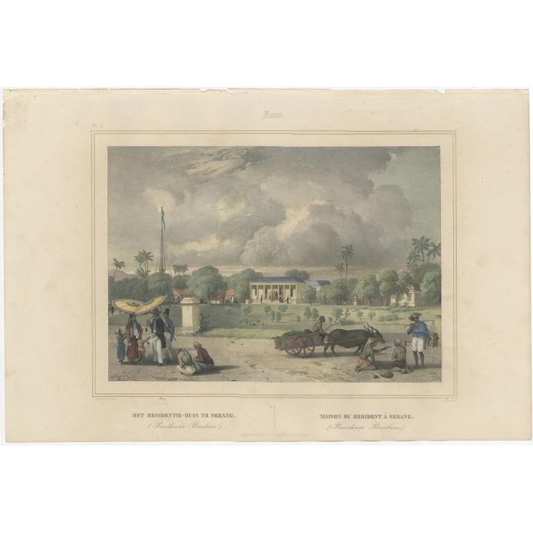Het Residentie-Huis te Serang - Lauters (1844)