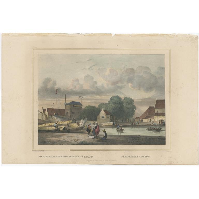De Aanleg Plaats der sloepen te Batavia - Lauters (1844)