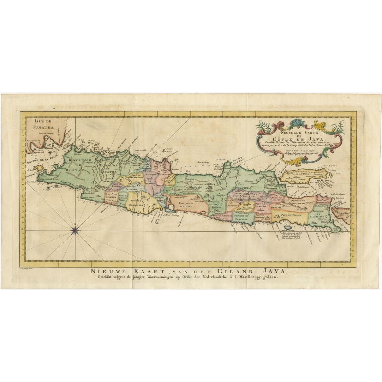 Nieuwe Kaart, van het Eiland Java - Van Schley (c.1770)