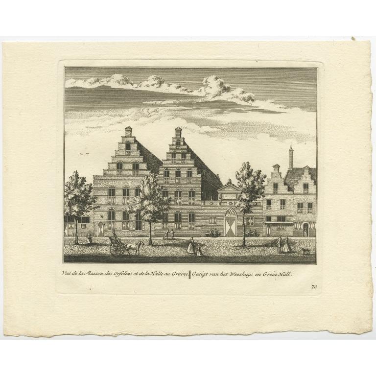 Gesigt van het Weeshuys en Grein Hall - Anonymous (c.1800)