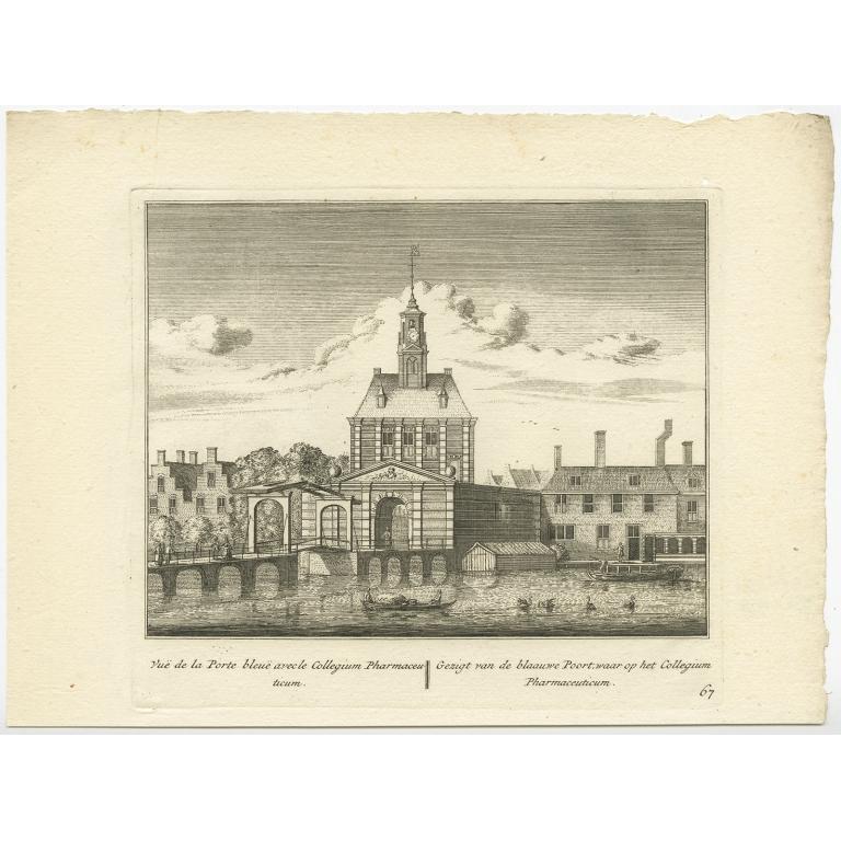 Gezigt van de blaauwe poort (..) - Anonymous (c.1800)