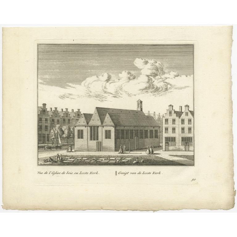 Gesigt van de Loots Kerk - Anonymous (c.1800)