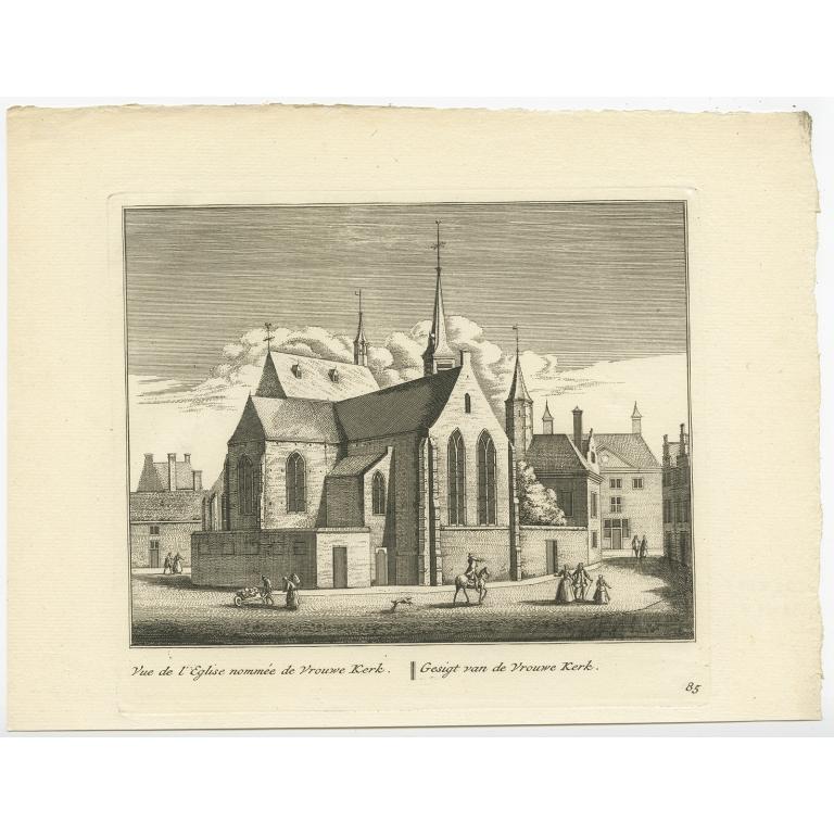 Gesigt van de Vrouwe Kerk -  Anonymous (c.1800)