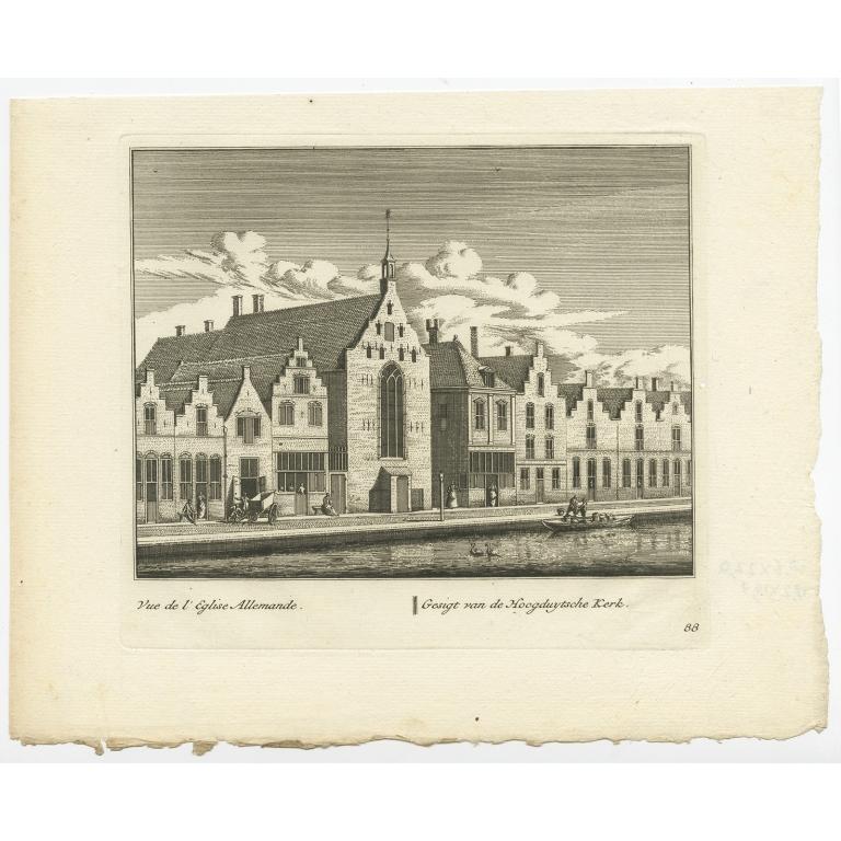 Gesigt van de Hoogduytsche Kerk -  Anonymous (c.1800)