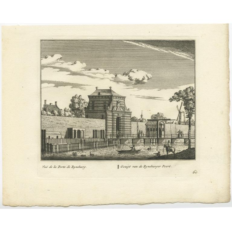 Gezigt van de Rynsburger Poort - Anonymous (c.1800)