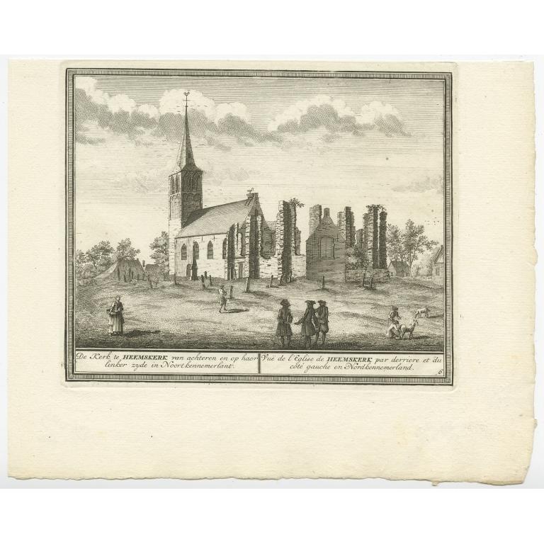 De Kerk te Heemskerk van achteren (..) - De Leth (c.1730)