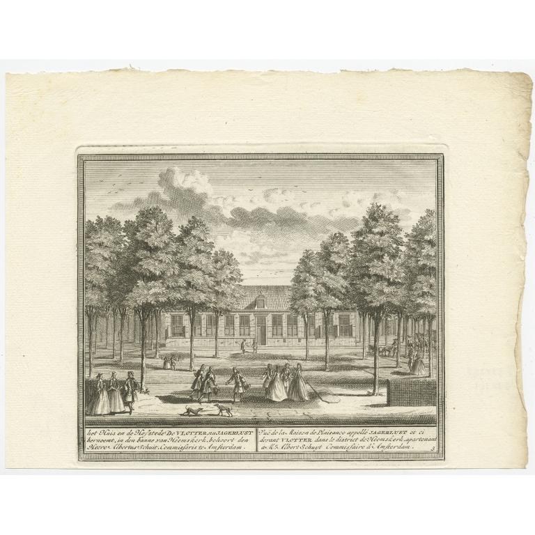 Het Huis en de Hofstede De Vlotter, nu Jagerlust (..) - De Leth (c.1730)