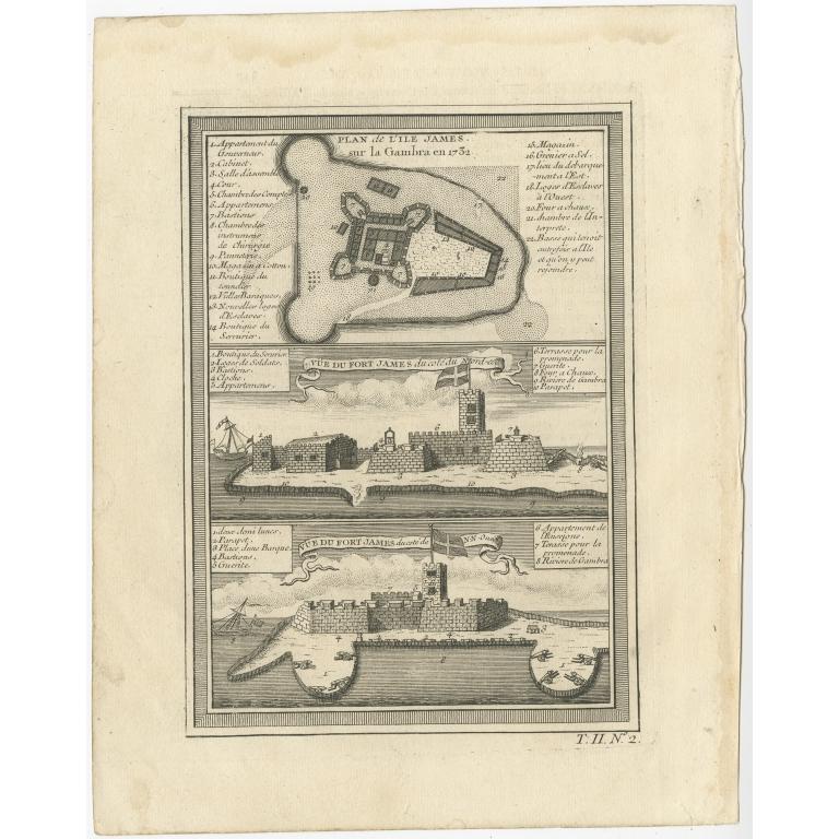 Three Views of Fort James - Bellin (1746)