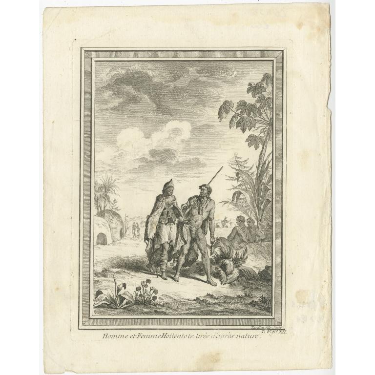 Homme et Femme Hottentots - Tardieu (c.1750)
