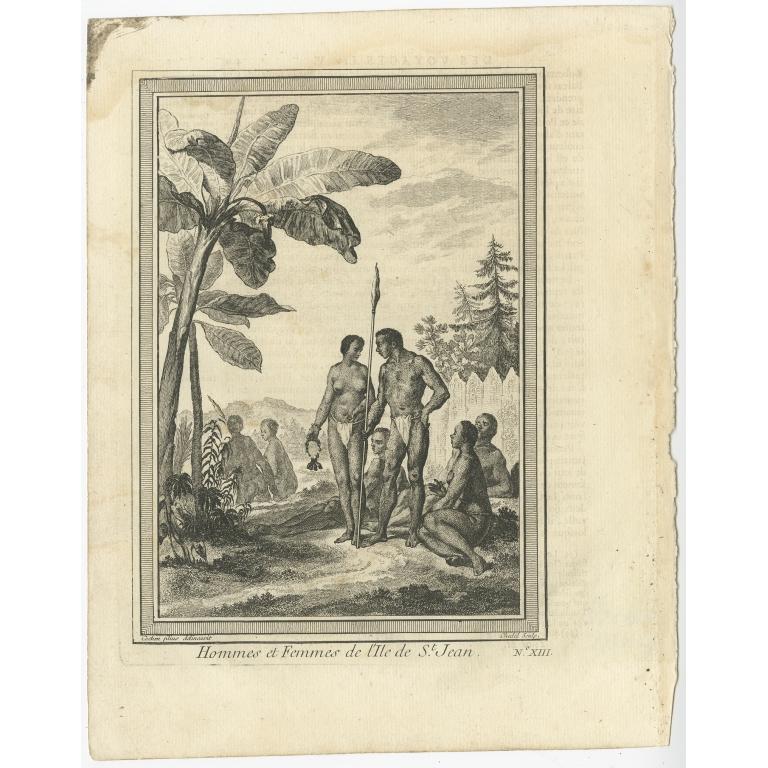 Hommes et Femmes de l'Ile de St. Jean - Cochin (c.1750)