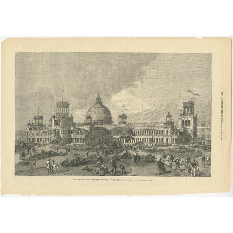 The International Exhibition Building - London News (1879)