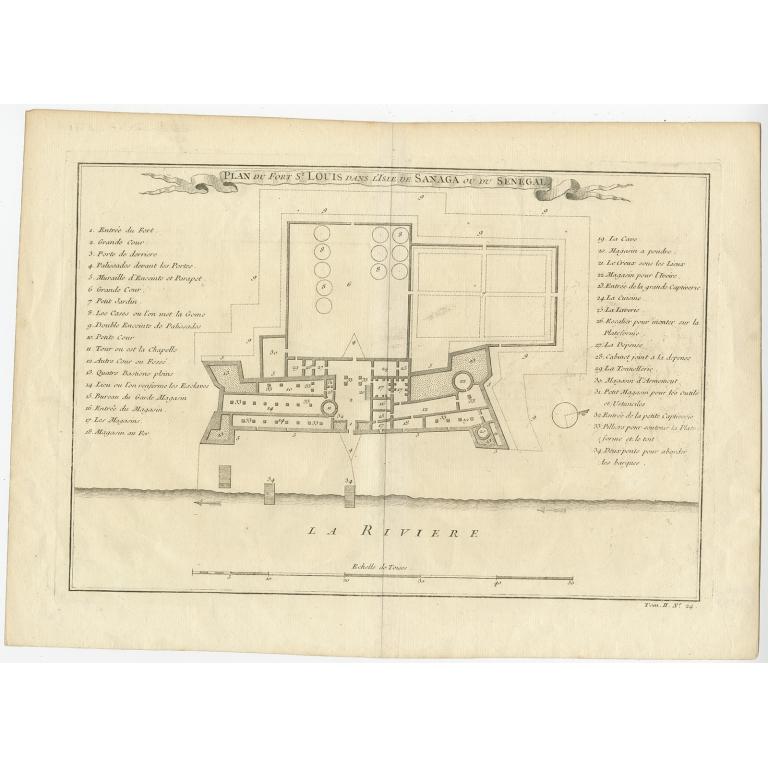 Plan du fort St. Louis (..) - Bellin (c.1747)