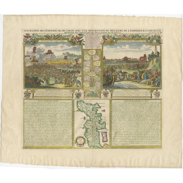 Succession des Empereurs du Japon (colored) - Chatelain (1732)
