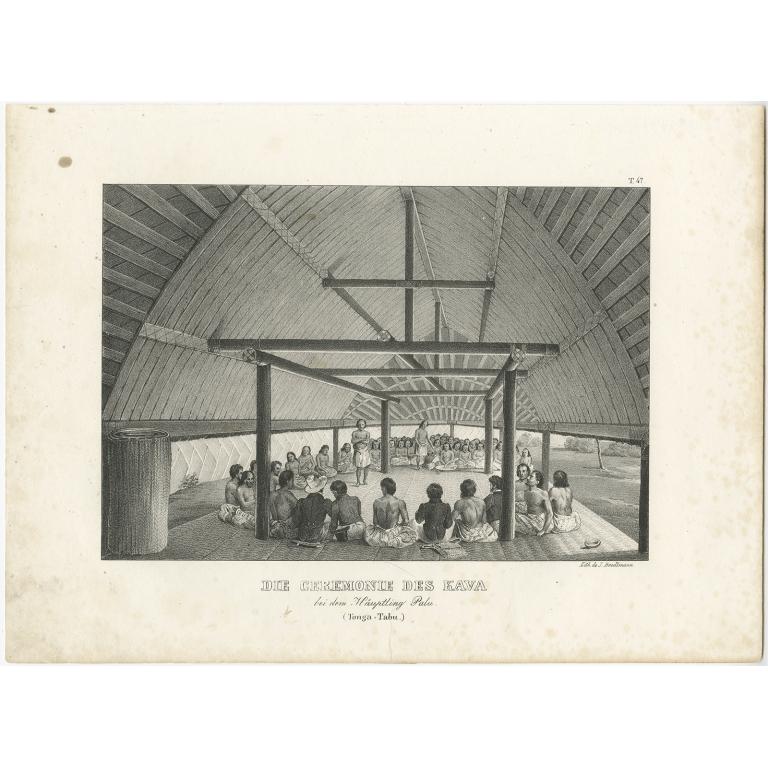 Die Ceremonie des Kava - Brodtmann (c.1836)