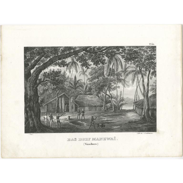 Das Dorf Manewaï - Brodtmann (c.1836)