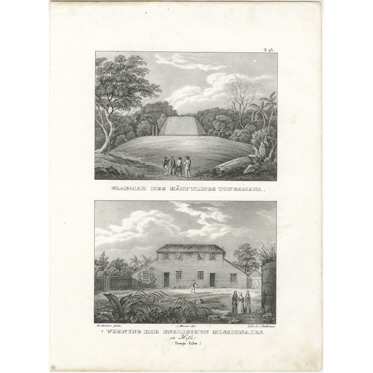 Wohnung der Englischen Missionairs - Brodtmann (c.1836)