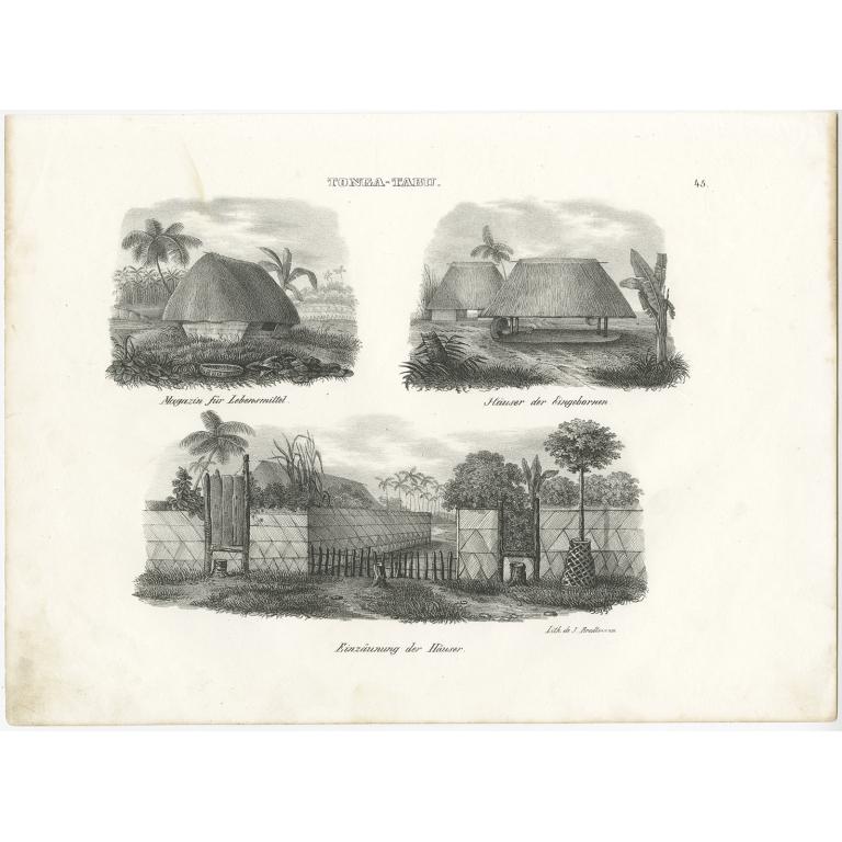 Tonga-Tabu Häuser - Brodtmann (c.1836)