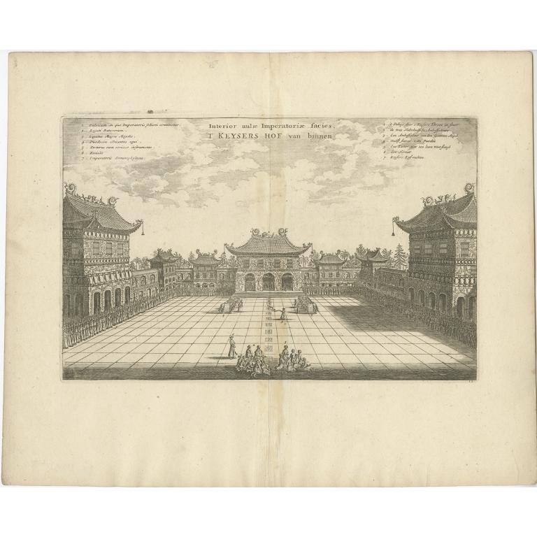 Interior aulae Imperatoriae facies - Nieuhof (1668)