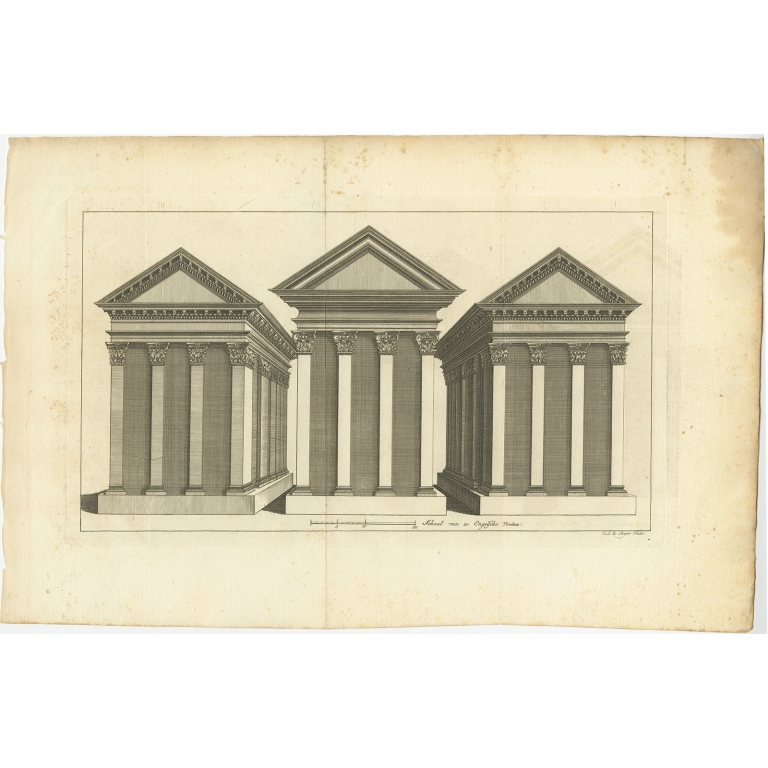 Untitled Print of three Temples - Shaw (1773)
