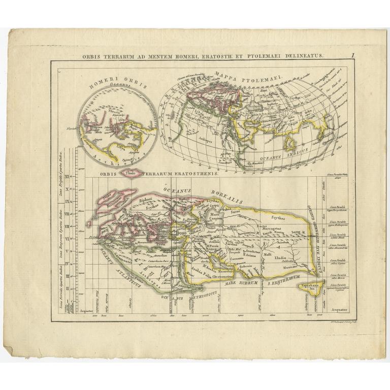 Orbis Terrarum ad Mentem (..) - Funke (1825)