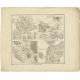 Roma Vetus, Athenae, Urbs, Campus Trojae - Perthes (1848)