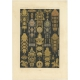 Pl. 94 Antique Print of decorative painting in France by Rachinet (1869)