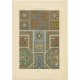 Pl. 65 Antique Print of decorative painting in France by Rachinet (1869)