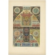 Pl. 54 Antique Print of decorative painting in France by Rachinet (1869)