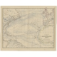 Antique Map of the Basin of the North Atlantic Ocean by Johnston (1882)