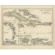 Antique Map of the Antilles by Meyer (1878)