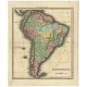 Antique Map of South America by Walker (1816)