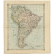 Antique Map of South America by Kelly (1835)