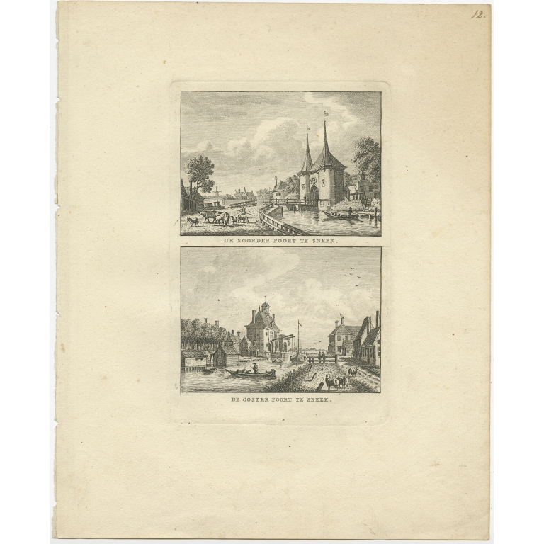 Antique Print of the City Hall of Sneek by Bendorp (1793)