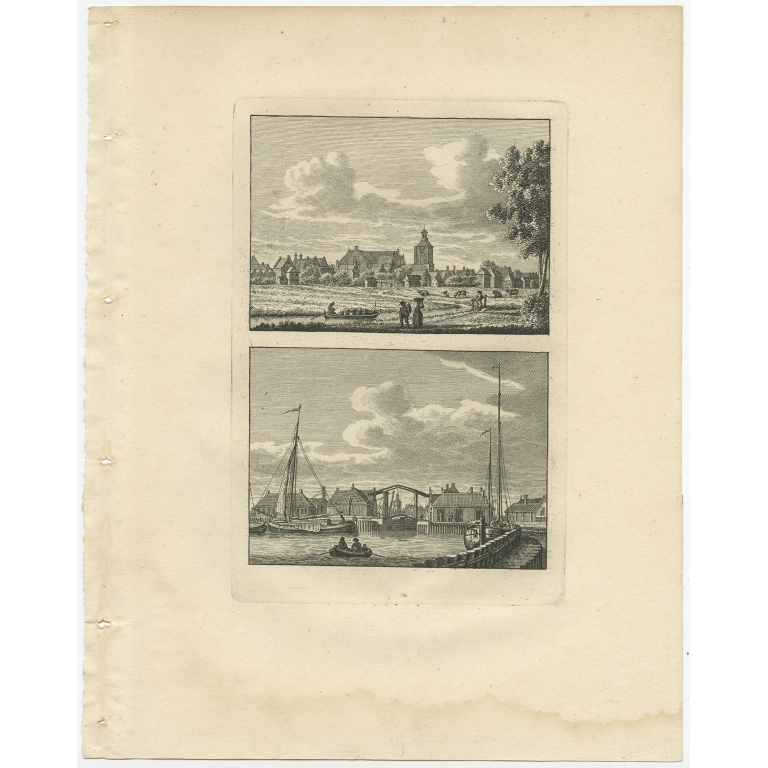 Antique Print of Workum by Bendorp (1793)