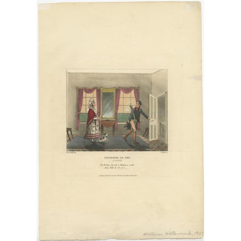Antique Satirical Print by McLean (1827)